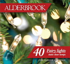 Alderbrook Lights Alderbrook Ak543gc Indoor Fairy Light Set 40 Clear