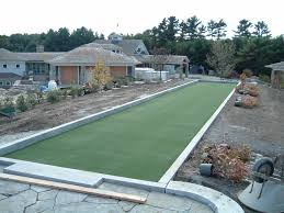 image of bocce ball court construction plans