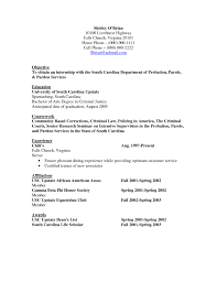 Criminal Justice Resume A Good Owner Manual Example