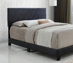 MYCO Furniture 8740-Q-BK Jessica Black Faux Leather Queen Size Platform Bed