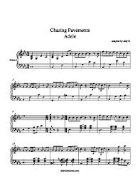 adele sheet music aldy sheet music chasing pavements adele