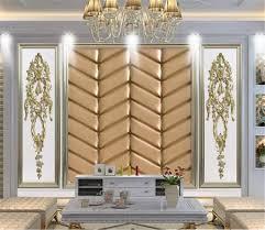 Großhandel Benutzerdefinierte Wandtapete 3d Wainscot Gold Prägung