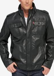 levi s men s vintage sherpa lined faux leather jacket