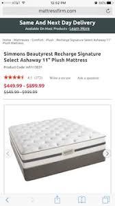 simmons beautyrest recharge logo. Simmons Beautyrest Recharge Signature Select Ashaway 11 Plush Mattress QUEEN Size Logo S