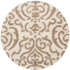 florida cream beige 4 ft x 4 ft round area rug
