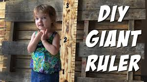 2x4 Ruler Growth Chart Diy Giant Ruler How To Build A Child Growth Chart