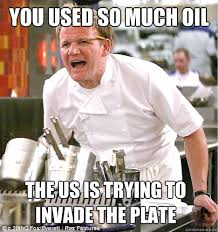 YOU USED SO MUCH OIL THE US IS TRYING TO INVADE THE PLATE - gordon ... via Relatably.com
