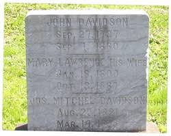 """Mary """"Polly"""" Lawrence Davidson (1800-1887) - Find A Grave Memorial"""