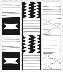 Kente Cloth Coloring Page