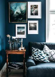 dark furniture living room ideas. Dark Blue Living Room With Marine Walls Layered Art  And A Vintage . Furniture Ideas N