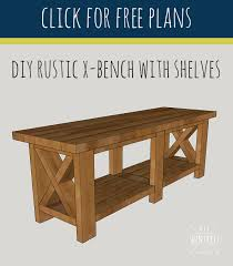 Diy Bench Diy Rustic X Bench Free Woodworking Plans Diy Huntress