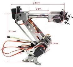 Mechanical Engineering Robots Diy 6dof Aluminum Robot Arm 6 Axis Rotating Mechanical Robot