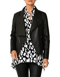 leather waterfall jacket