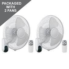 fan on sale. plastic wall fan 16\u2033 white w/ lcd display + remote control **pack of 2 on sale