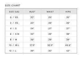 Apparel Size Chart