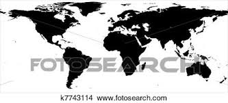 Drawings Of World Map Black And White Border K7743114 Search