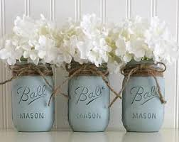 Blue Mason Jars Wedding Decor Blue mason jar Etsy 36