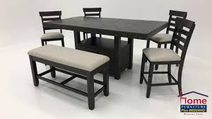 Colorado 6 Piece Bar Height Table Set Brown