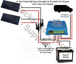 caravan & motorhome solar panel 15 amp complete kit 2 solar panels diagram at Caravan Solar Wiring Diagram