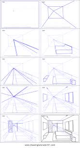 bedroom drawing one point perspective. Perfect Perspective How To Draw One Point Perspective Bedroom Printable Step By Drawing  Sheet  DrawingTutorials101com For Drawing I