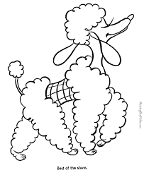 Dog Picture For Kids To Color Coloring Poodle Drawing Coloring