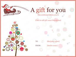 gift card formats christmas ball trees gift certificate template christmas