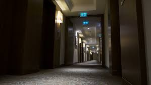 alone corridor empty passage in some luxurious hotel hd stock footage clip