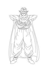 Piccolo Lijkt Sterk Met Zijn Armen Gekruisd Kleurplaat Gratis