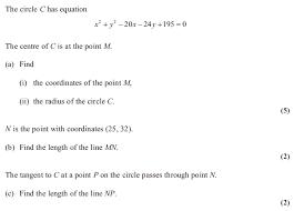 exam questions circles examsolutions