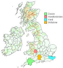 rowden surname Uk Map Devon my family roots are in central devon, england at the centre of the county, in the civil parish of sampford courtenay, to the south of the crediton to map of devon uk