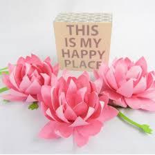 Paper Lotus Flower Pin On Flower Tutorials