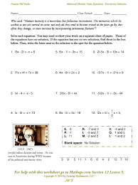 expressions equations and inequalities worksheets the best worksheets image collection and share worksheets