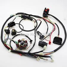 popular atv wiring harness buy cheap atv wiring harness lots from buggy wiring harness loom gy6 cdi electric start stator 8 coil ngk spark plug switch engine