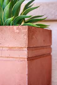 modern diy large stained concrete planter