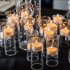 Blown Glass Miniature Tealight Luminaries (4)