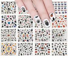 24 Sheets Halloween Nail Sticker Set Nail Art Set Ghost Stickers ...