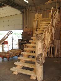 Custom carved bear staircase post