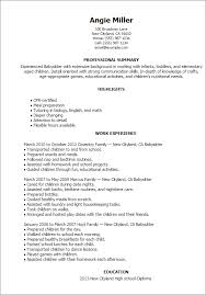 Babysitting Resume Template Mesmerizing Babysitting Resume Templates Goalgoodwinmetalsco