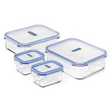 glasslock tempered glass food container set 4pce peter s of kensington