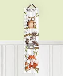 Toad And Lily Growth Chart Toad And Lily Woodland Personalized Growth Chart Zulily