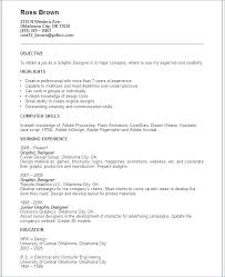 Graphic Design Resume Objectives Graphic Designer Resume Objective ...