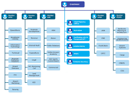Committee Organization Chart Organization Structure Airports Authority Of India Aai