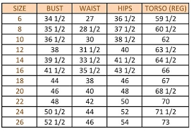 Amoena Swimwear Size Chart