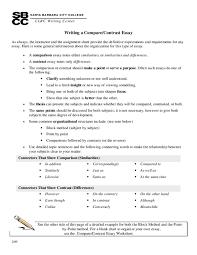 Pdf Clrc Writing Center Writing A Compare Contrast Essay