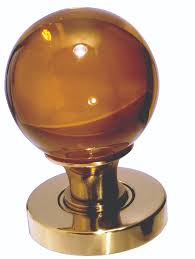 jh5205 amber glass ball mortice knob from frelan hardware