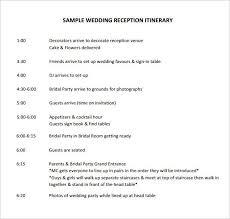 32 Free Wedding Itinerary Template Dailyshownews Template