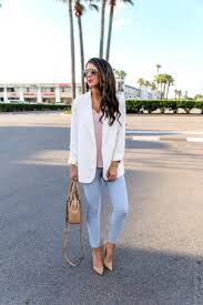 Light Blue Work Pants Outfit Spring Work Wear Outfit Styled With Neutral Colors Spring