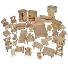 Cheap dolls house furniture sets Melissa Image Etsy Set 34 Pcs Wooden Doll House Free Shipping Dollhouse Etsy