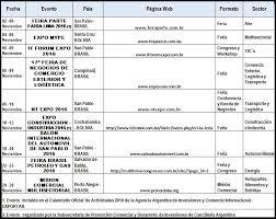 Agenda De Eventos A Desarrollarse En Bolivia Y Brasil