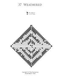 Warped Square Wednesday 2018 4 Beading Patterns